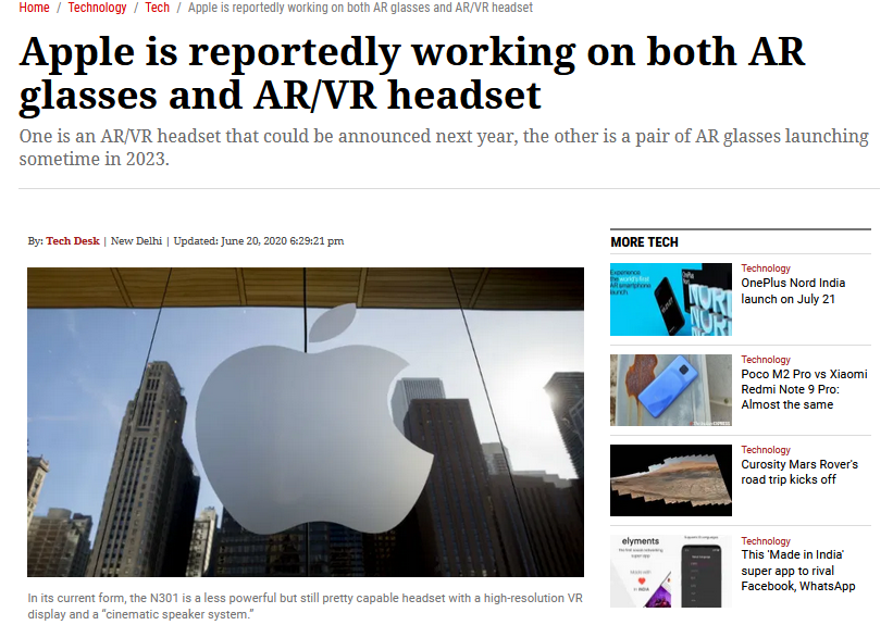 Apple is working on Secret AR/VR Project